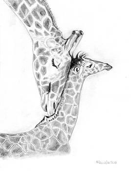 Giraffe Family by Heidi Kunkel
