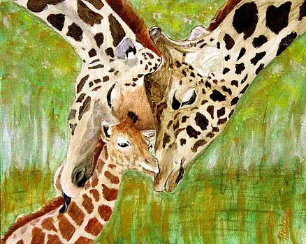 Giraffe Family by M Gilroy