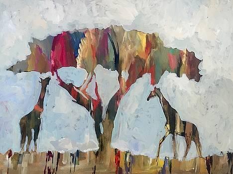 Giraffe gathering by Molly Wright