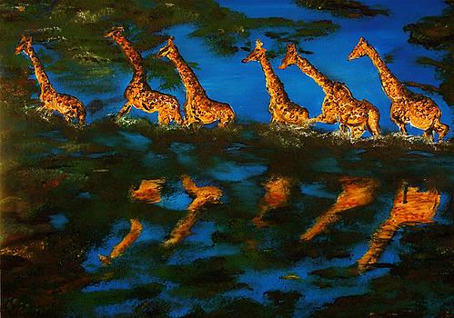 Giraffe in Africa by Gregory Allen Page
