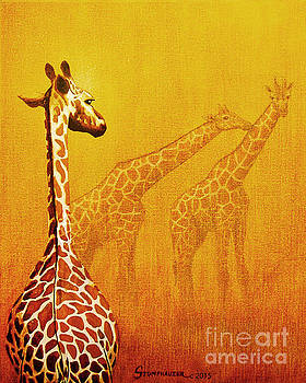 Giraffe Memories by Jerome Stumphauzer