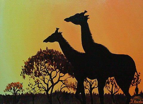 Giraffe Of The Serengeti 1 by Portland Art Creations