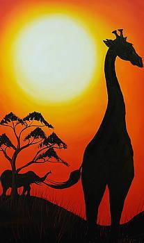 Giraffe Of The Serengeti 16 by Portland Art Creations