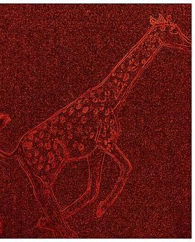 Giraffe On The Run by Debra Lynch
