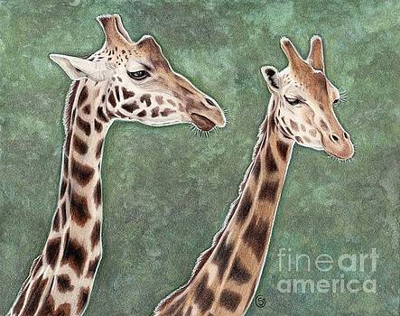 Giraffe Pair by Sherry Goeben