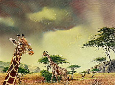 Giraffes at Thabazimba by Don Griffiths
