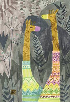 Giraffes in Turtleneck Sweaters by Kate Cosgrove