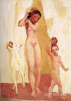 Picasso - Girl and Goat