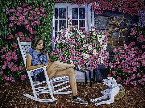 Manuel Lopez - Girl and her dog