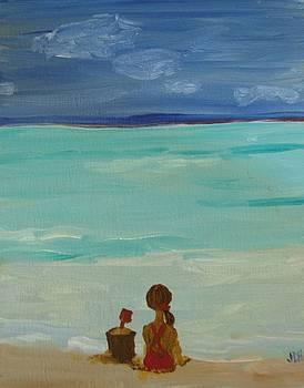 Girl And The Beach by Joseph Hawkins