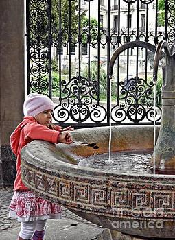 Sarah Loft - Girl at a Hot Spring Fountain in Wiesbaden