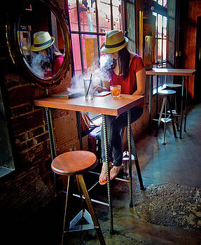 Girl at the Bar by Linda Unger