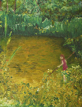 Girl at the pond by Desiree Aguirre