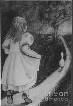 Girl Chasing Goose by Mary Erbert