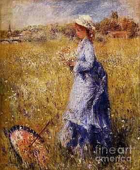 Renoir - Girl Gathering Flowers