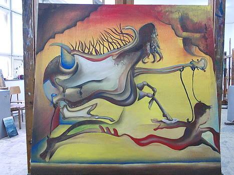 Girl horse  by Machukov Dejan