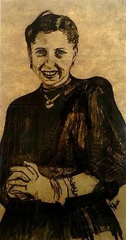 Girl in a Black Dress by Jolante Hesse