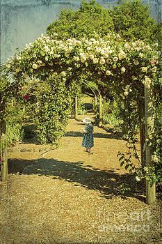 Girl in a Rose Garden by Elaine Teague