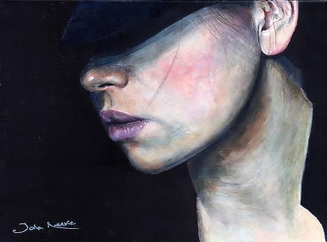 Girl in Black Hat by John Neeve