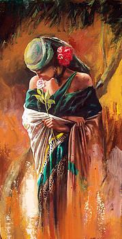 Girl in Green by Alim Adilov