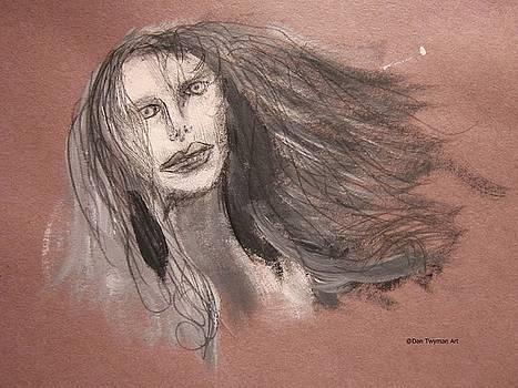 Girl in Mixed Media by Dan Twyman