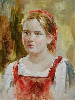 Girl in Red by Kelvin  Lei