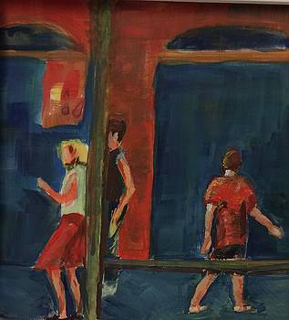 Girl in Red Skirt by Charme Curtin