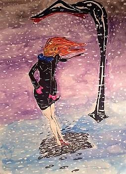 Girl In The Snow by Robert Hilger