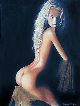Girl On A Chair by Raymond Potts