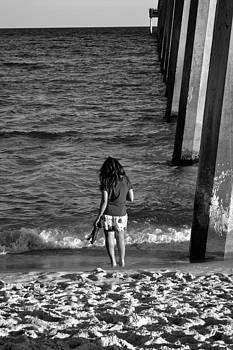 Girl on Beach by Carrie Cooper