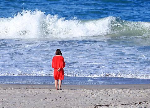 Girl on Beach by Charles Van Riper