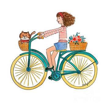 Girl on Bike by Catalina Velasquez