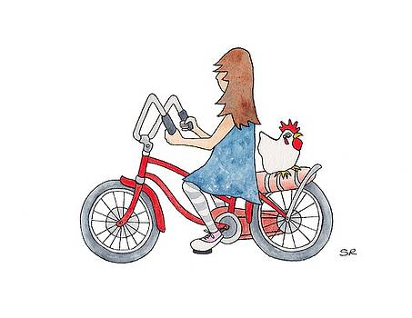 Girl on Bike by Sarah Rosedahl