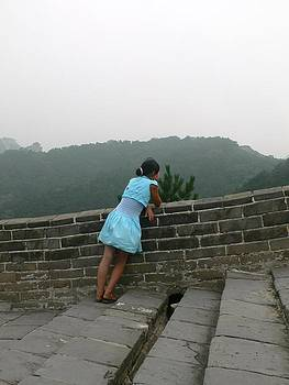 Girl on Great Wall by Gina S