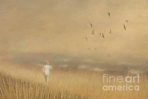 Girl on the Beach by Pam  Holdsworth