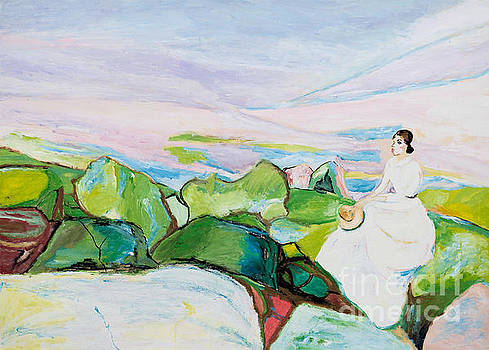 Girl on the Cliff by Art by Danielle