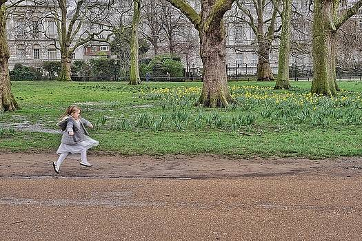 Girl Skipping In Spring by Steffani Cameron