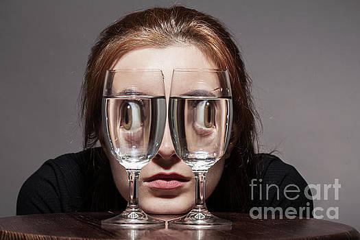 Girl Wine Glasses by Aleksey Tugolukov