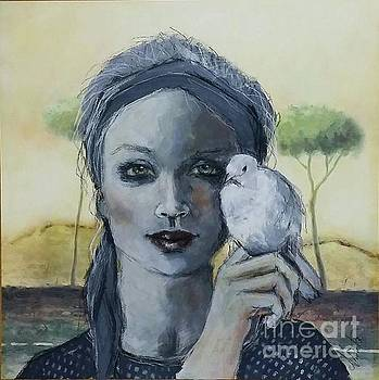 Girl with a Dove by Shirley Lennon