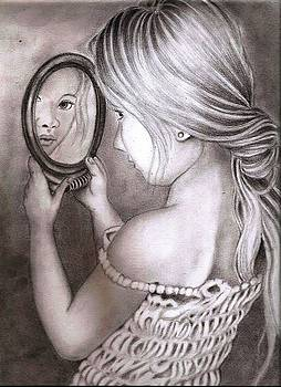 Girl With A Mirror by Bharati Subramanian