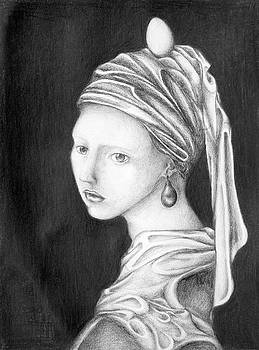 Girl With A Pearl Egg by Sheridan Furrer
