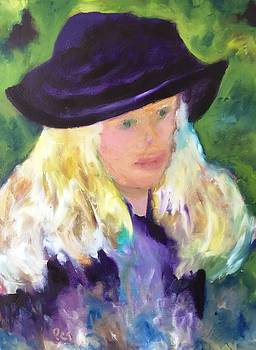 Girl with a Purple Hat revised by Patricia Taylor