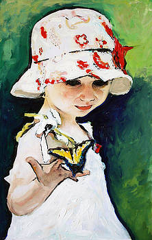 Girl with Butterfly by Francoise Lynch