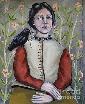 Girl WIth Crow by Linda Marcille
