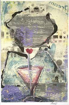 Girl With Drink by Maryn Crawford