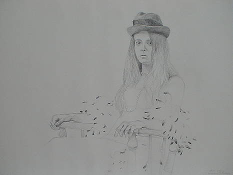 Girl with Feather Boa by Jackie Hoats Shields