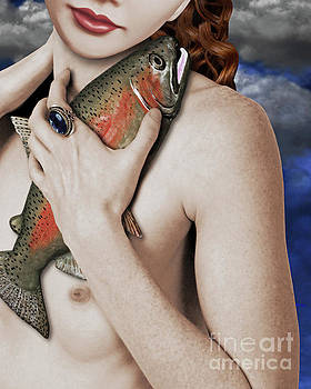 Girl With Fish by Keith Dillon