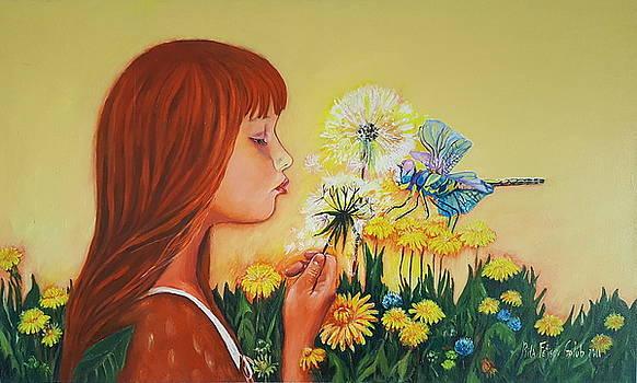 Girl with flower by Rita Fetisov