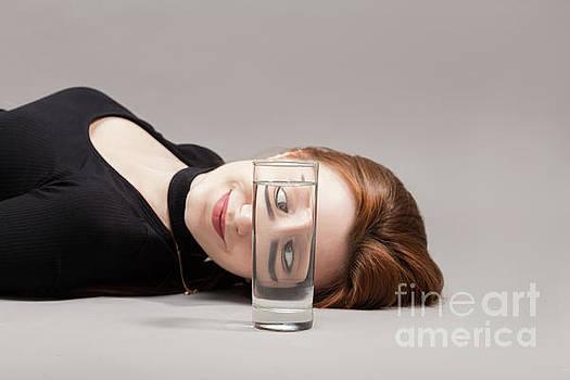 Girl With Glass by Aleksey Tugolukov