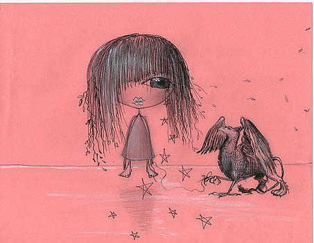 Girl with Griffin  by Nino Gabashvili
